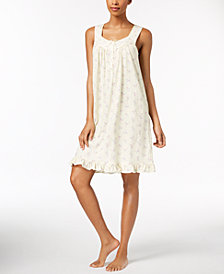 Charter Club Lace-Trim Ruffle-Hem Nightgown, Created for Macy's