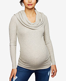 A Pea In The Pod Maternity Ruched Cowl-Neck Sweater