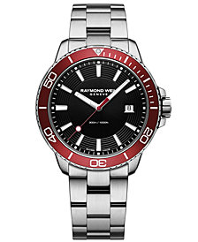 RAYMOND WEIL Men's Swiss Tango Diver Stainless Steel Bracelet Watch 42mm