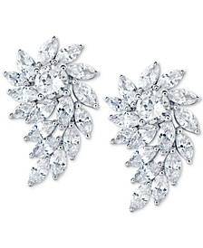 Swarovski Zirconia Crystal Cluster Drop Earrings in Sterling Silver
