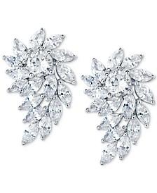 Arabella Swarovski Zirconia Crystal Cluster Drop Earrings in Sterling Silver