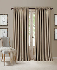 Elrene All Seasons Blackout Rod Pocket/Back Tab 52'' x 108'' Curtain Panel