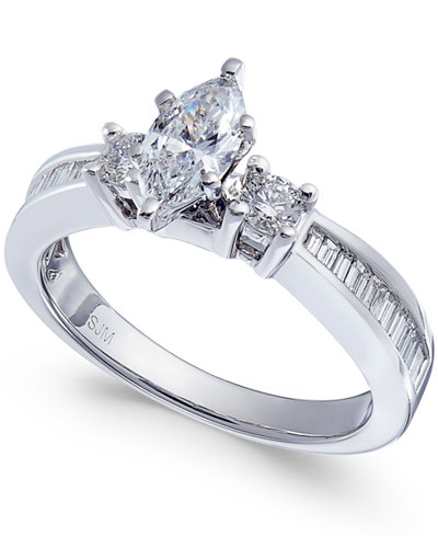 Diamond Marquise Ring (1 ct. t.w.) in 14k White Gold