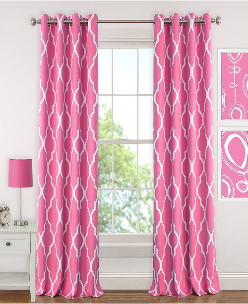"Elrene Emery Geometric Print 52"" x 63"" Blackout Curtain Panel"