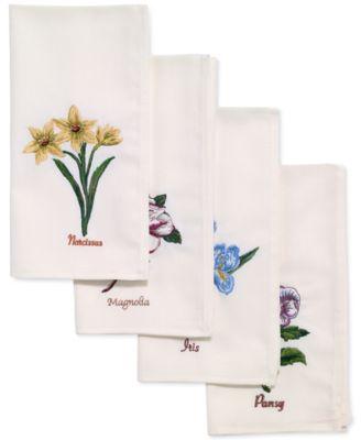 Botanic Garden 4-Pc. Napkin Set