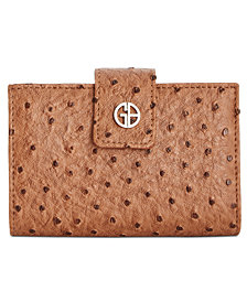 Giani Bernini Ostrich-Embossed Index Wallet, Created for Macy's