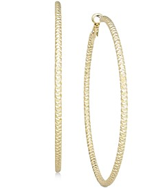 """Textured Extra Large 3"""" Hoop Earrings, Created for Macy's"""