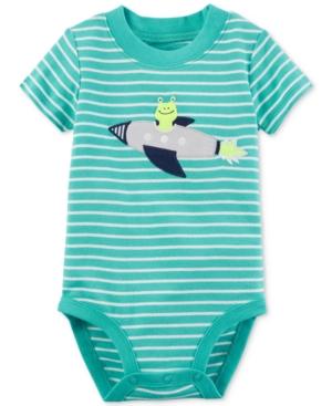 Carters Striped Alien Cotton Bodysuit Baby Boys (024 months)
