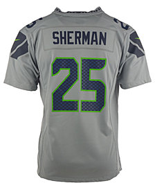 Nike Richard Sherman Seattle Seahawks Game Jersey, Big Boys (8-20)