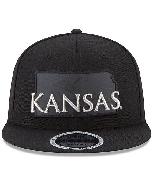 premium selection c1249 e7c81 ... purchase new era. kansas jayhawks state flective 9fifty snapback cap.  be the first to