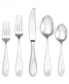 Flatware, Platinum Wave 5 Piece Place Setting