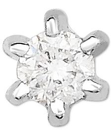 Diamond Accent Single Stud Earring in 14k White Gold
