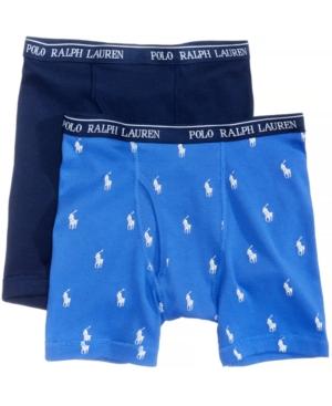 Polo Ralph Lauren 2Pk Cotton Boxer Briefs Little Boys (47)  Big Boys (820)