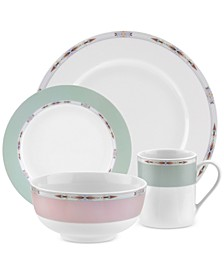 Formal Deco 16-Piece Dinnerware Set, Service for 4