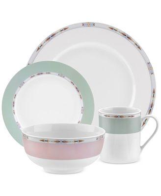 Spode Formal Deco 16-Piece Dinnerware Set, Service for 4