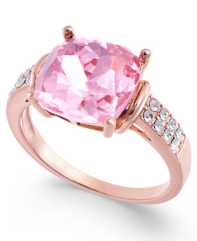 Charter Club Rose Gold-Tone Stone & Crystal Statement Ring, Created for Macy's