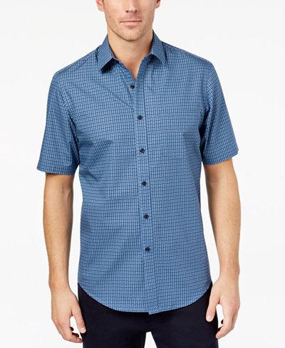 Club Room Men's Pineapple-Print Shirt, Created for Macy's