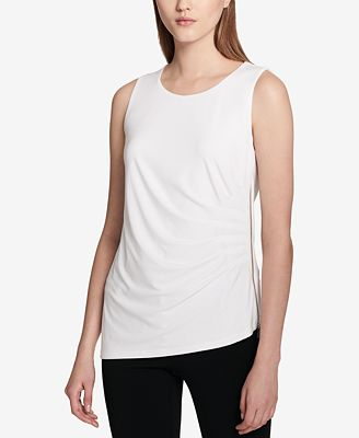 Calvin Klein Draped Zip-Detail Top