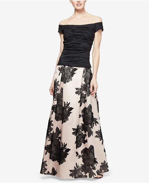 Alex Evenings Printed Ball Skirt