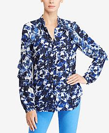 Lauren Ralph Lauren Floral-Print Georgette Shirt