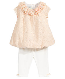Marmellata 2-Pc. Lace Tunic & Capri Leggings Set, Baby Girls