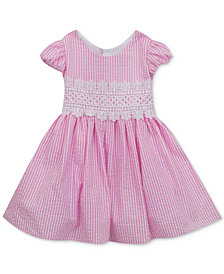Rare Editions Striped Seersucker Dress, Baby Girls