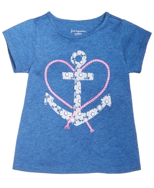 First Impressions AnchorPrint Cotton TShirt Baby Girls (024 months) Created for Macys