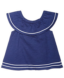 First Impressions Cotton Flounce Ruffle Top, Baby Girls, Created for Macy's