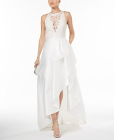 Bridal occasion dresses wedding shop macys adrianna papell embroidered high low gown junglespirit Choice Image