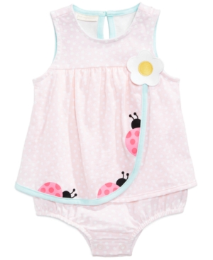 First Impressions DotPrint Ladybugs Cotton Skirted Sunsuit Baby Girls (024 months) Created for Macys