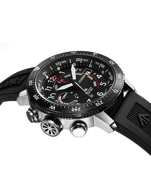 61b7c115ba9 ... Citizen Eco-Drive Men s Promaster Altichron Black Rubber Strap Watch ...
