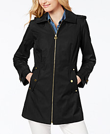 MICHAEL Michael Kors Logo-Lined Hooded Raincoat
