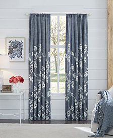 "CLOSEOUT! Croscill Lucine Backtab Cotton 82"" x 84"" Window Drapery"