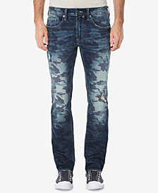 Buffalo David Bitton Men's Ash-X Slim-Fit Stretch Camouflage Destroyed Jeans