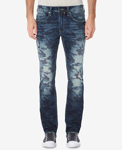 Buffalo David Bitton Men's Ash-X Slim-Fit Stretch Camouflage Destroyed Jeans