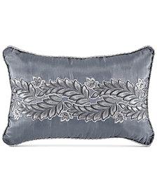 "Croscill Seren Chenille Damask Jacquard 18"" x 12"" Boudoir Decorative Pillow"