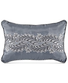 "Croscill Seren Chenille Damask Jacquard 18"" x 12"" Boudoir Decorative Pillow"