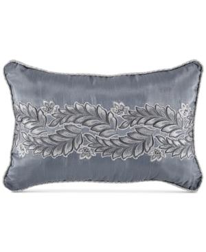 Croscill Seren Chenille Damask Jacquard 18 x 12 Boudoir Decorative Pillow Bedding