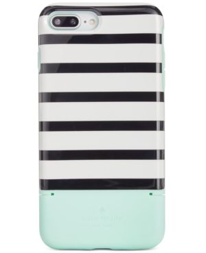 Kate Spade New York Striped Credit Card Iphone 8 Plus Case, Green Multi