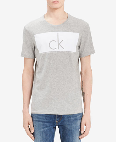Calvin Klein Jeans Men's Big & Tall Knockout Flocked Logo T-Shirt