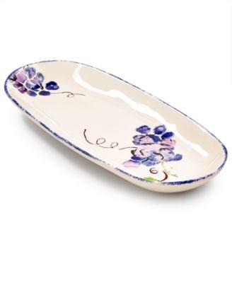 Viva by Fresh Fruit Grape Narrow Oval Platter, Created for Macy's