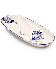 Viva by Vietri Fresh Fruit Grape Narrow Oval Platter, Created for Macy's
