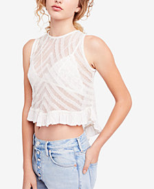 Free People She's A Doll Lace Crop Tank