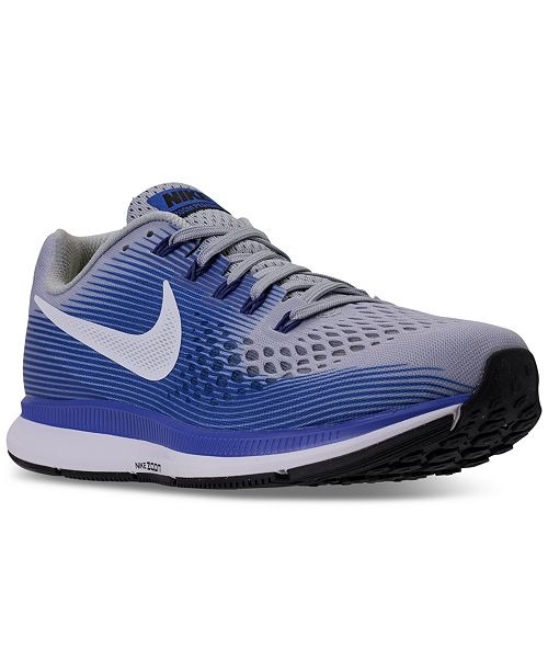 ef06e95159c3 ... Nike Men s Air Zoom Pegasus 34 Wide Width (4E) Running Sneakers from  Finish ...