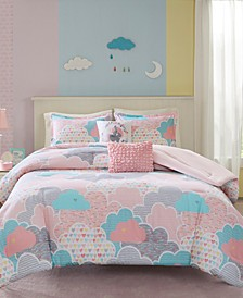Cloud 5-Pc. Cotton Printed Bedding Sets