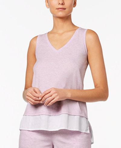 Alfani Layered-Look Pajama Tank, Created for Macy's