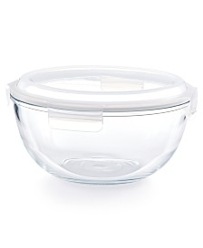 Martha Stewart Collection 4.2-Qt. Glass Bowl & Lid, Created for Macy's