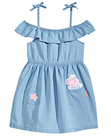 Nickelodeon's® Peppa Pig Patch-Front Cotton Chambray Dress, Little Girls