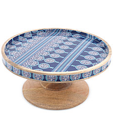 CLOSEOUT! Thirstysone Enameled Wood Cake Stand
