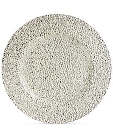 Jay Import Glamour Silver-Tone Glass Charger Plate